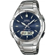 Casio WaveCeptor Radio Controlled Watch Stainless Steel with Blue Dial