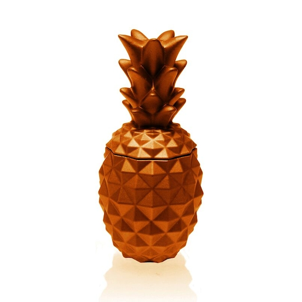 Orange Concrete Pineapple For Her Candle