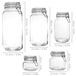 Assorted Set of 5 Clip Top Glass Storage Jars | M&W - Image 3