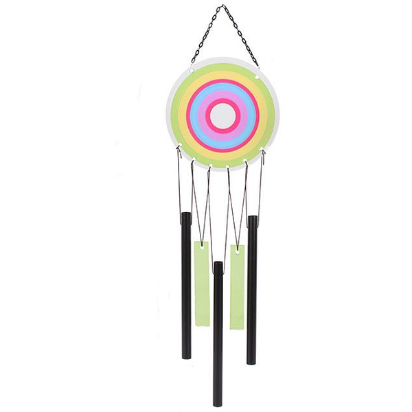 Green Multi Circle Windchime