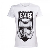Star Wars VII The Force Awakens Adult Male Troop Leader Stormtrooper Small T-Shirt