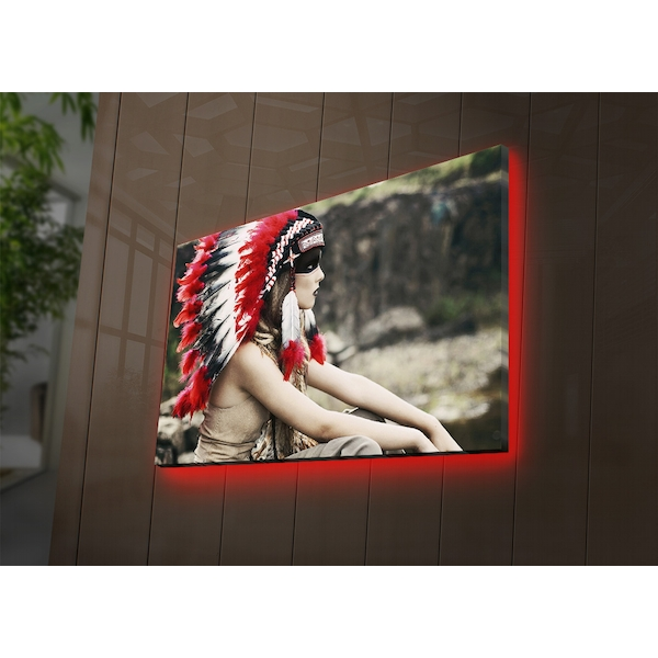 4570NTVDACT-1 Multicolor Decorative Led Lighted Canvas Painting