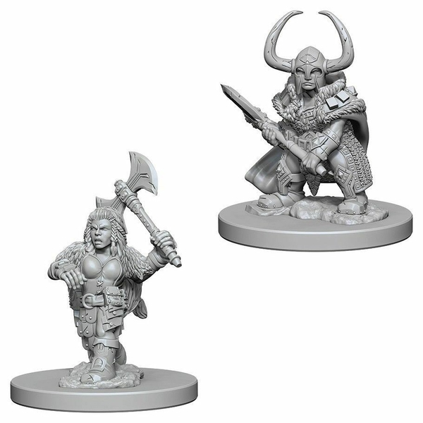 Dungeons & Dragons Nolzur's Marvelous Unpainted Miniatures Dwarf Female Barbarian