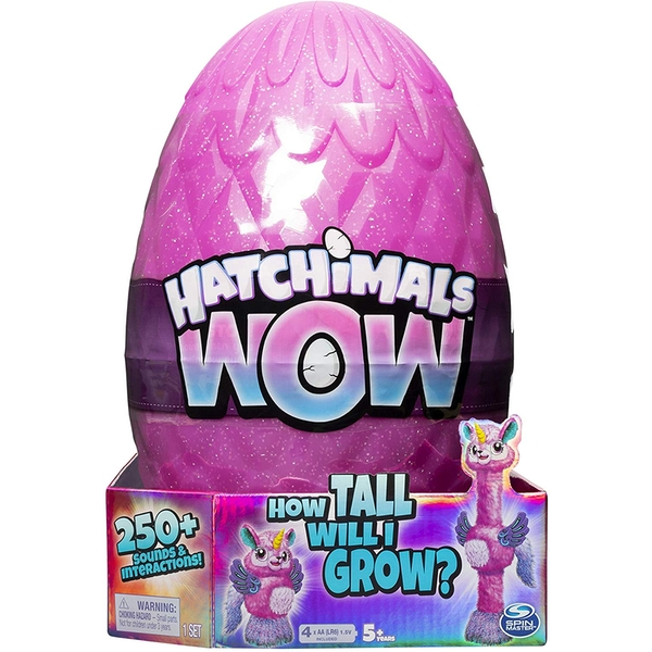 "Hatchimals HatchiWOW Interactive 32"" Llalacorn - 1 At Random"