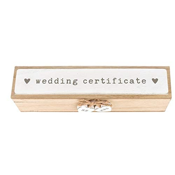 Love Story Wooden Wedding Certificate Box