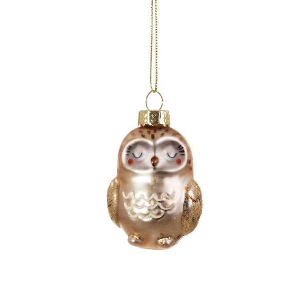 Sass & Belle Baby Owl Shaped Bauble