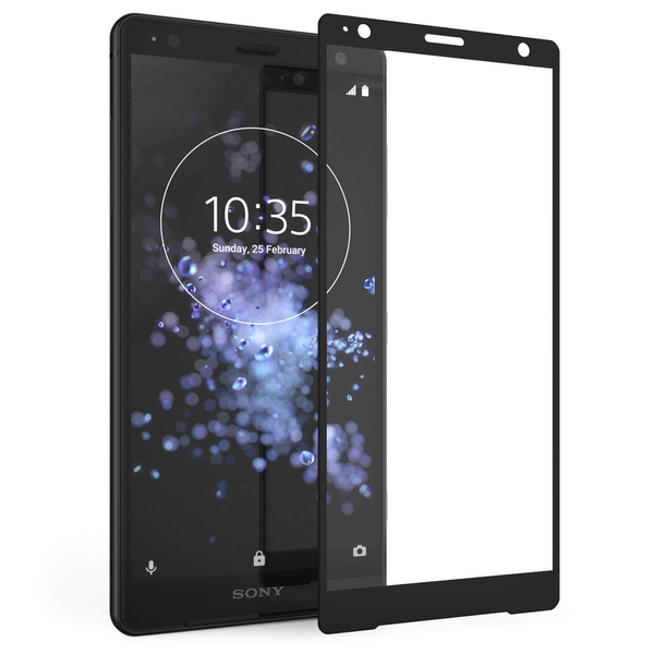 Sony Xperia XZ2 Compact Tempered Glass (Single) - Black Edge - Image 1