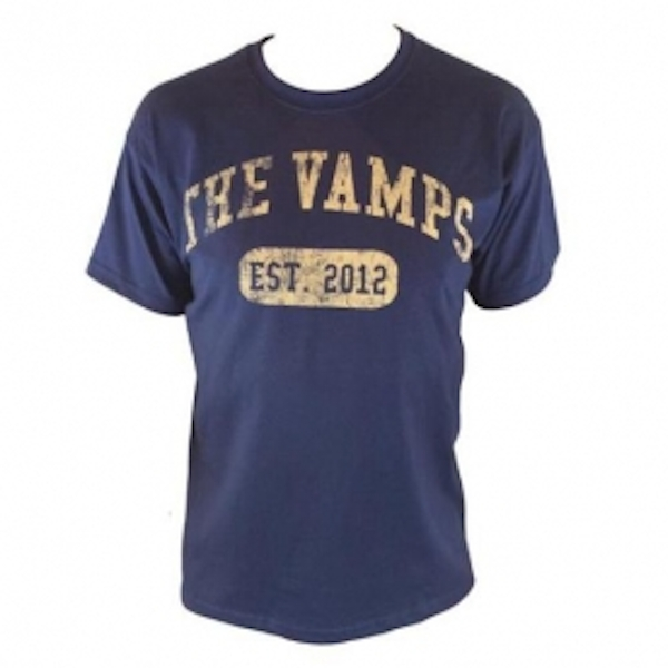 The Vamps Team Vamps Navy T Shirt Large