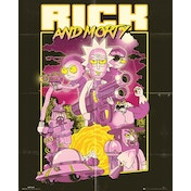 Rick and Morty Action Movie Mini Poster
