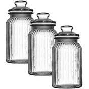 Set of 3 Glass Jars 1300ml