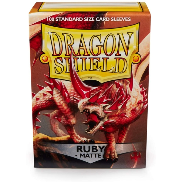 Dragon Shield Ruby Matte Card Sleeves - 100 Sleeves