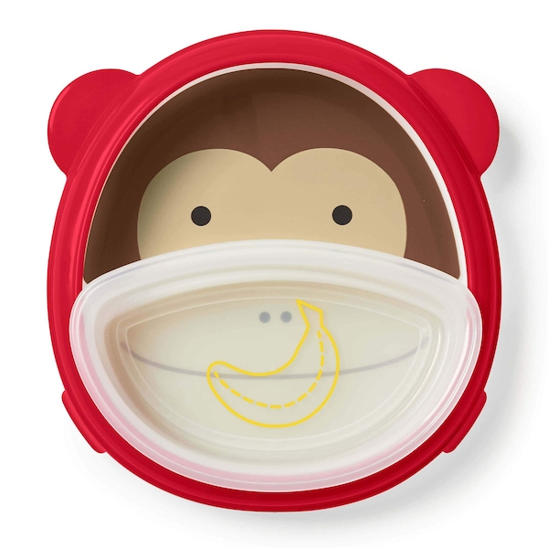 Skip Hop Monkey Smart Serve Plate & Bowl
