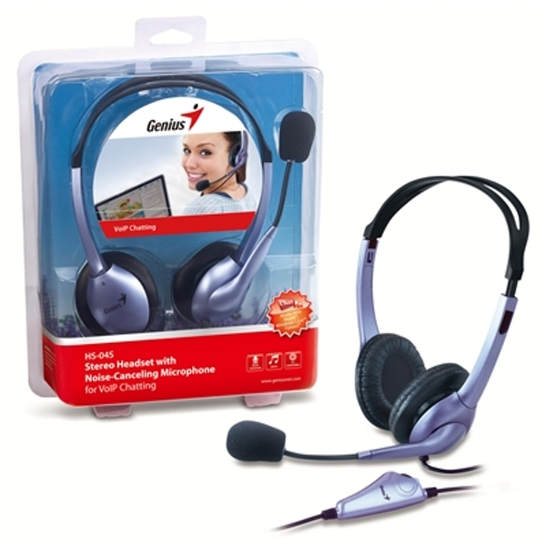 Image of Genius HS04S Headset With Noise-Cancelling Microphone