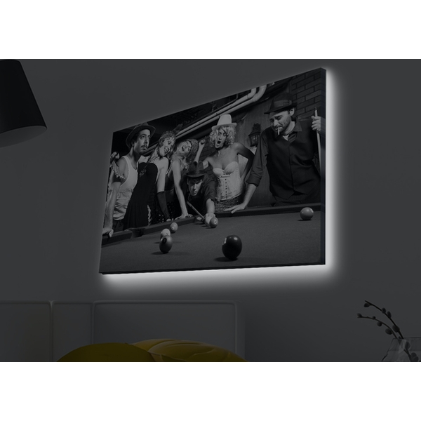 4570MDACT-001 Multicolor Decorative Led Lighted Canvas Painting