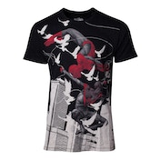 Marvel Comics - Miles Morales Print Men's X-Large T-Shirt - Black