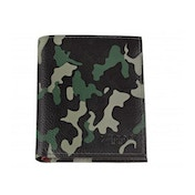 Zippo Green Camouflage Leather Tri-Fold Wallet (8.8 x 10.4 x 1.5cm)