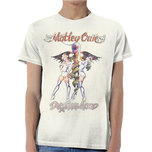 Motley Crue - Dr Feelgood Vintage Unisex Small T-Shirt - Neutral