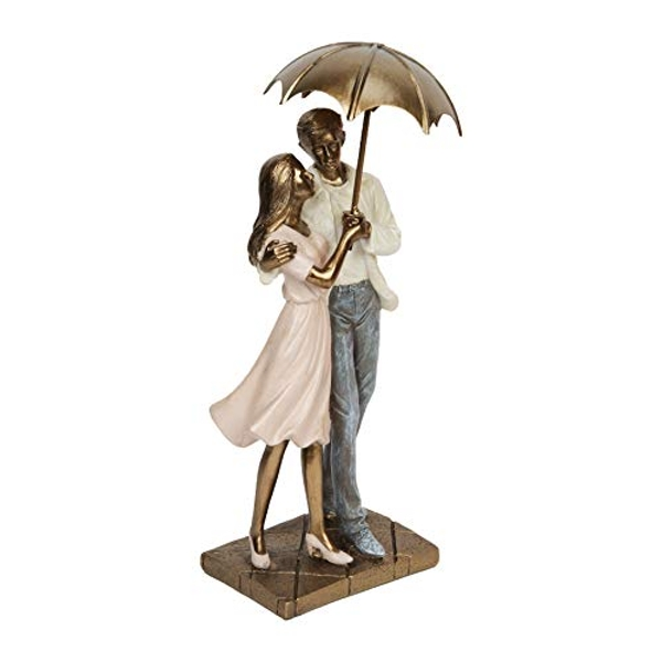 Rainy Day Collection Resin Figurine - Couple Standing 24.5cm