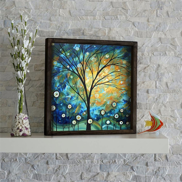 KZM543 Multicolor Decorative Framed MDF Painting