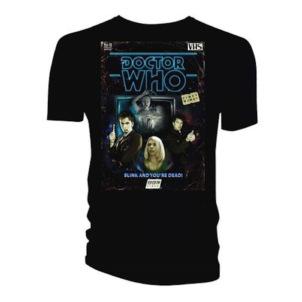 Doctor Who - Retro VHS Cover 10th Doctor Colour Graded Men's XXX-Large T-Shirt - Black