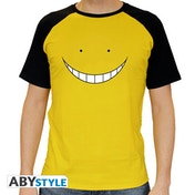 Assassination Classroom - Koro Smile Men's Large T-Shirt - Yellow