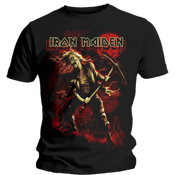 Iron Maiden - Benjamin Breeg Red Graphic Unisex X-Large T-Shirt - Black