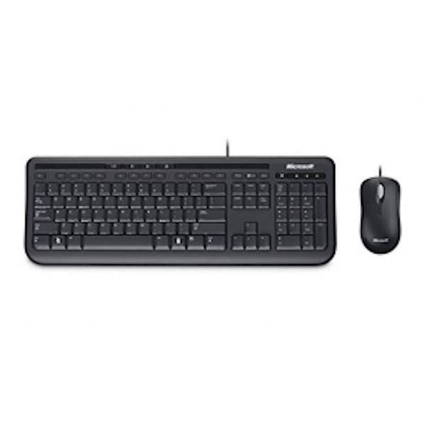 microsoft retail wired desktop 600 keyboard mouse. Black Bedroom Furniture Sets. Home Design Ideas