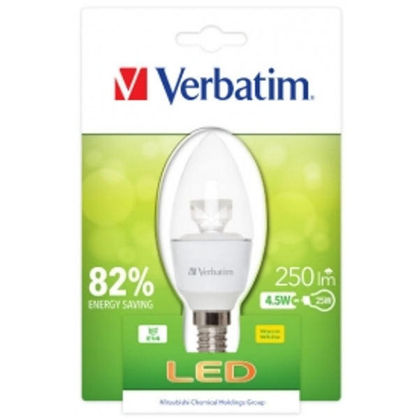 Verbatim Home 4.5w Clear Candle E14 2700k 250Lm