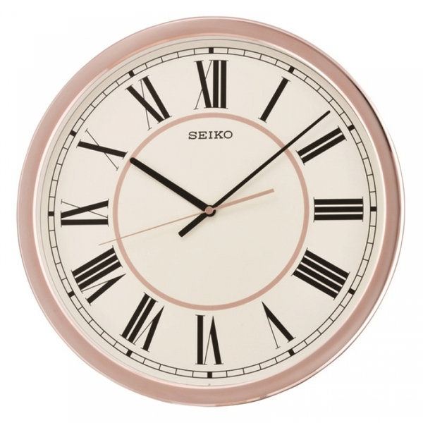 Seiko Qxa614p Roman Numeral Wall Clock With Sweep Second
