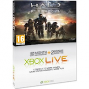 Xbox LIVE Gold 12+2 Month Membership Card Halo Reach Design Xbox 360