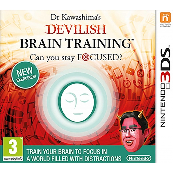 Dr Kawashima's Devilish Brain Training Can You Stay Focused? 3DS Game - Image 1