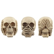Fantasy Skull Set  See No Evil, Speak No Evil, Hear No Evil