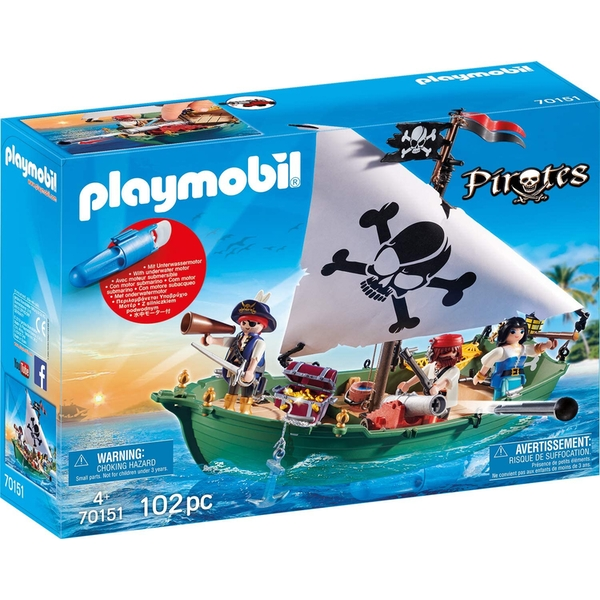 Playmobil Pirate Ship with Underwater Motor Playset