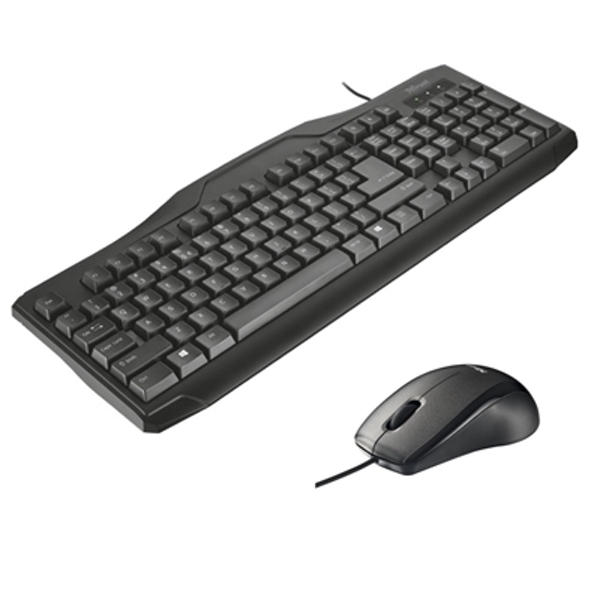 Trust Classicline Wired Keyboard and Mouse Bundle