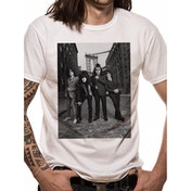 Kiss - B&W City Men's Large T-Shirt - White