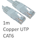 RJ45 (M) to RJ45 (M) CAT6 1m White OEM Moulded Boot Copper UTP Network Cable - Image 2