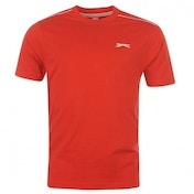 Slazenger Plain T-Shirt Medium Red