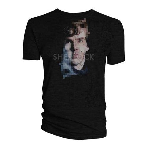Sherlock - Sherlock Pixelated Men's Medium T-Shirt - Black