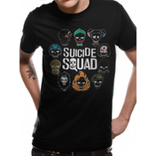 Suicide Squad - Logo And Icons Men's Large T-Shirt - Black