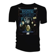 Doctor Who - Retro VHS Cover 10th Doctor Colour Graded Men's X-Large T-Shirt - Black