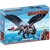 Playmobil Dragons Hiccup & Toothless with LED Light Effects
