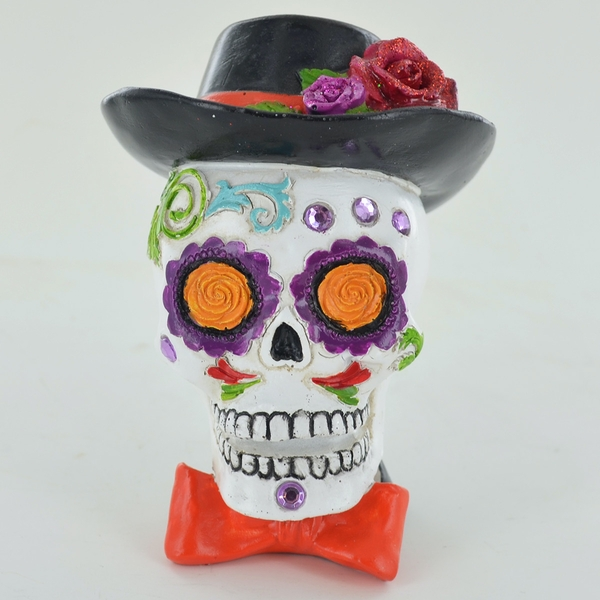 Day Of The Dead Male Skull 10cm