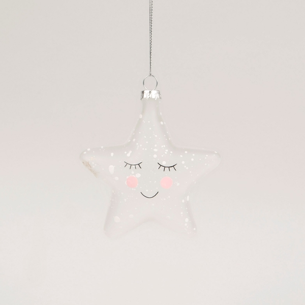 Sass & Belle Sweet Dreams Speckled Star Shaped Bauble