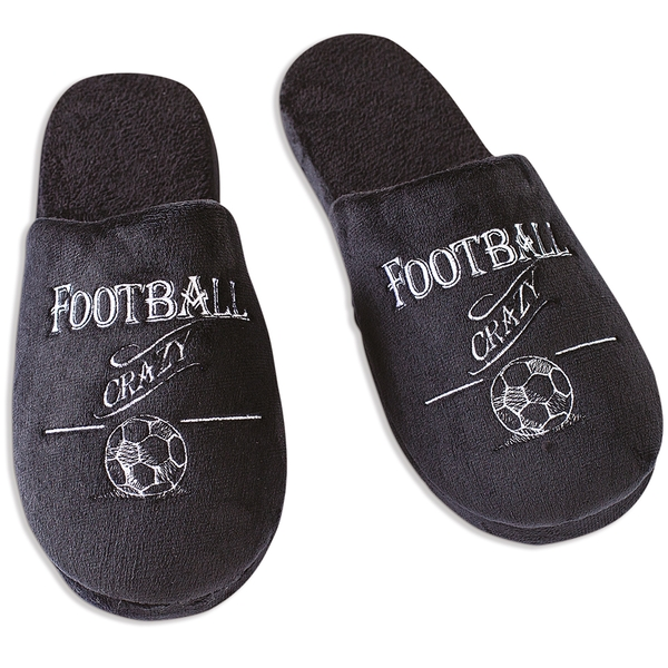 Ultimate Gift for Man Slippers Large UK Size 11-12 Football