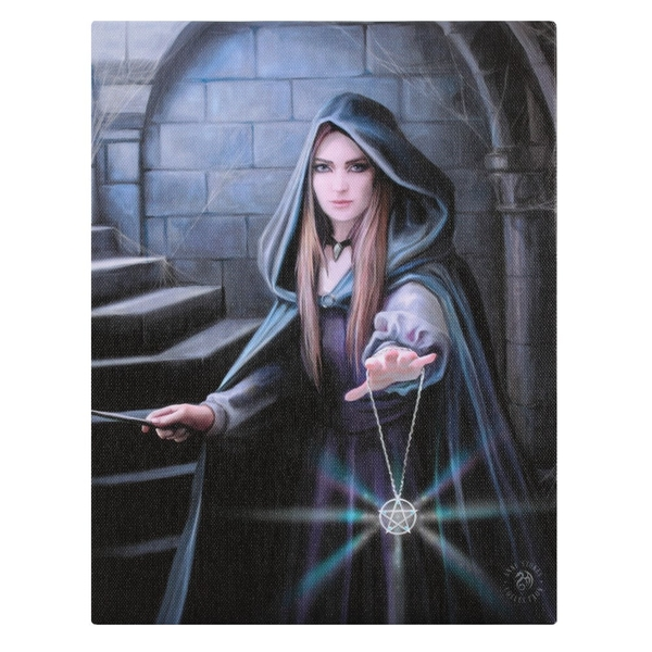 Light in the Darkness Canvas by Anne Stokes
