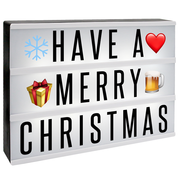 A4 Lightbox with 205 Letters & Emoji | Pukkr