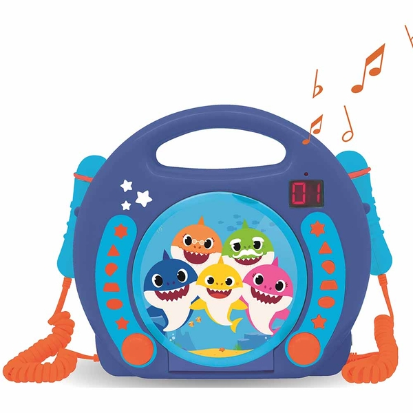 Lexibook RCDK100BS Baby Shark CD Player with Microphones