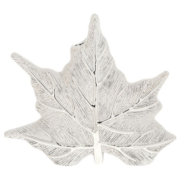 Maple Leaf Vase Champagne Small