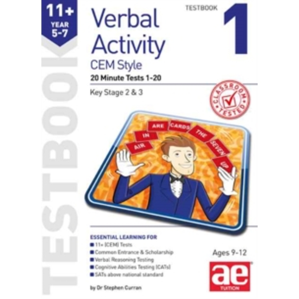 11+ Verbal Activity Year 5-7 Cem Style Testbook 1 : 20 Minute Tests 1-20