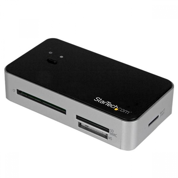StarTech USB 3.0 Multi Media Flash Memory Card Reader with 2-Port Hub and USB Fast Charge Port